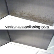 Stainless steel polishing rust from lift door.